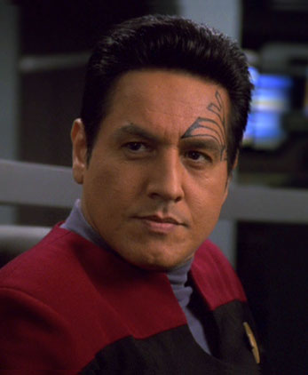 Chakotay in old ubiform, 2377
