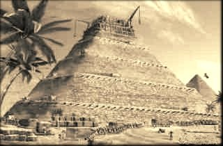 Pyramid under construction